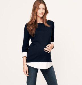 Loft Maternity Layered Sweatshirt