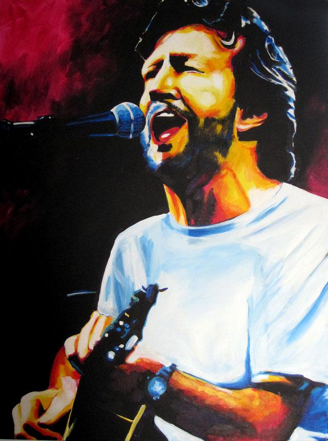 "SOLD: Eric Clapton 30""x40"""