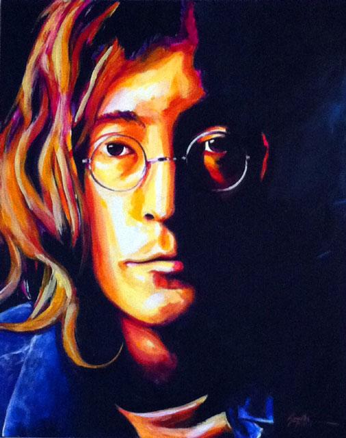 """SOLD: John Lennon 20""""x24"""""""
