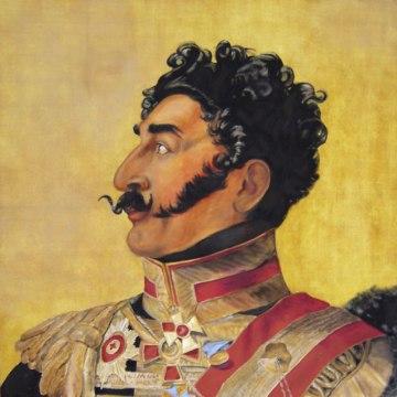 Man with the Marvellous Moustache 4'x4' Acrylic