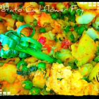 Peas Potato Cauliflower Fry