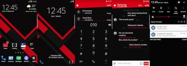 Samsung Galaxy Theme - Edge UI Red
