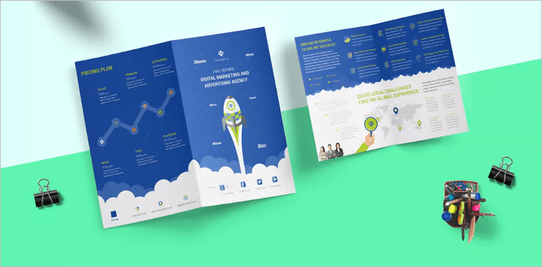 17 Fresh Digital Brochure Templates Free PSD Vector EPS PNG     Digital Brochures Examples Free PSD Templates   Digital brochure templates