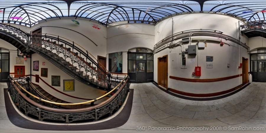 Chelsea Hotel Stairwell :: New York City  :: 360° Panorama