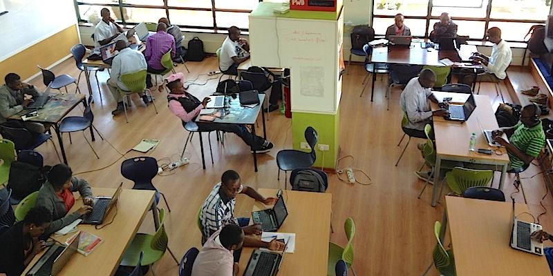 Le iHub de Nairobi, le précurseur de toute une génération d'espace de coworking et d'innovation hub en Afrique. (Photo: Philippe Couve)