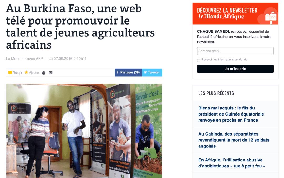 Quand LeMonde.fr parle d'AgribusinessTV, on est fiers