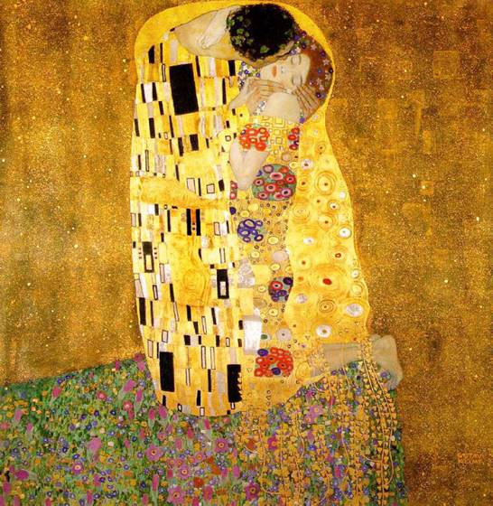 "Klimt; ""The Kiss, 1907-1908"""