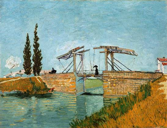 "Van Gogh; ""The Langlois Bridge at Arles, 1888"""