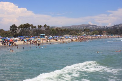Beachgoers enjoy the July 4 holiday at Doheny State Beach, one of three state parks in south Orange County. Photo: Andrea Swayne