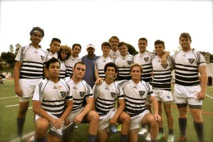 The Dana Rugby Club is currently 4-0 on the season and in first place in the Southern California Youth Rugby white Los Angeles division. Photo: Courtesy