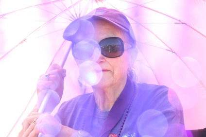 Doris Burg, a 22-year survivor of cancer, at Saturday's Relay for Life. Photo: Eric Heinz