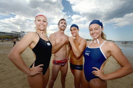 From L to R: Carter Graves, Shane Scoggins, Joel Simmondson and Kira Kinsey represented Victoria, Australia in the last installment of the Wieland Shield competition. Photo: Courtesy Lifesaving Victoria