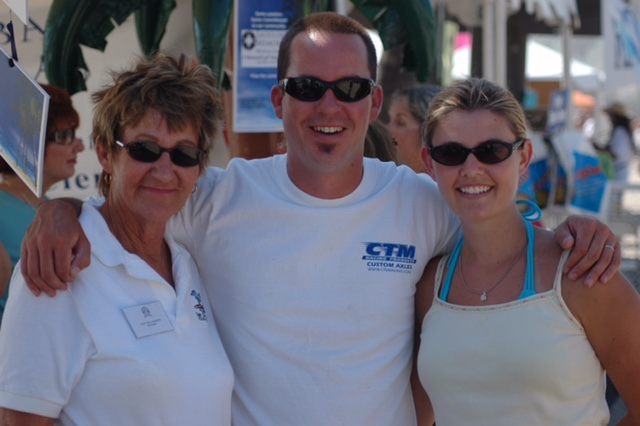 Mary Anna Anderson (left) is seen at Ocean Fest circa 2006. Photo: Courtesy of the Anderson family