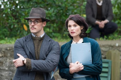 "M78 Sam Clafin and Gemma Arterton star in STX Entertainment's ""Their Finest"".     Photo courtesy of STX Entertainment  Motion Picture Artwork © 2017 STX Financing, LLC. All Rights Reserved. PHOTO CREDIT Ð NICOLA DOVE"