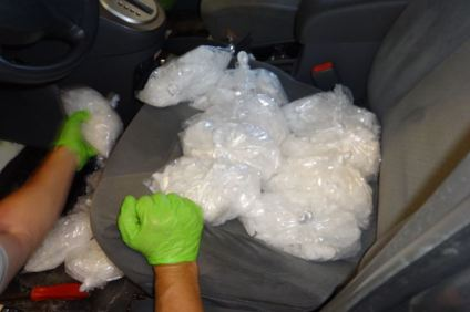 U.S. Border Patrol agents reported arresting a 38-year-old man with more than 40 pounds of meth in his possession. Photo: Courtesy of U.S. Border Patrol