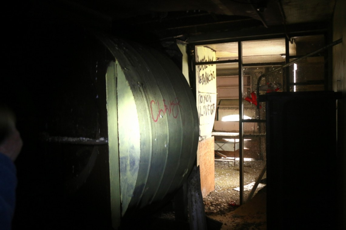 Graffiti, debris and more is rampant within the old Miramar Theater and bowling alley. Photo: Eric Heinz