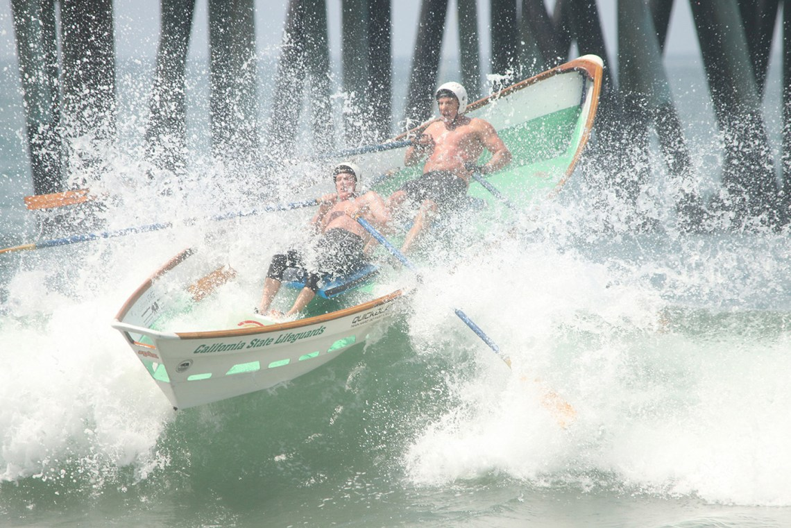 The Dory Boats offer exciting race action at Ocean Fest. Photo: Eric Heinz