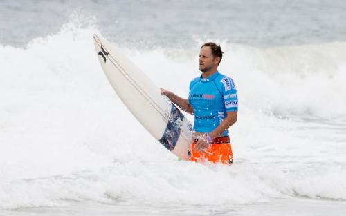 Richie Lovett of Australia won the 2003 Boot Mobile Pro before it became the Hurley Pro at Lower Trestles. There are various inspirational stories of success from the event. Photo: Courtesy of the World Surf League/Steve Robertson