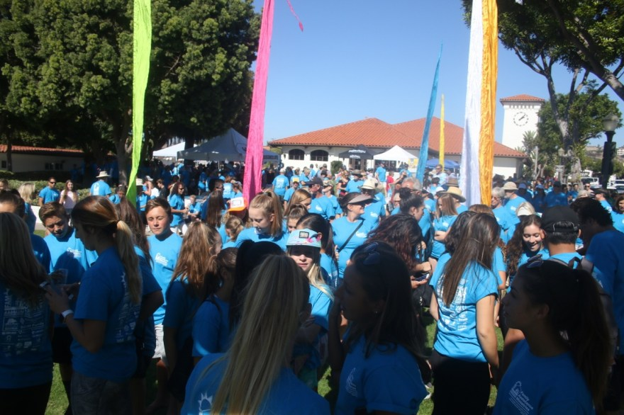 Various groups joined the Family Assistance Ministries 30th annual Hunger Walk at the San Clemente Community Center on Oct. 15. Photo: Eric Heinz