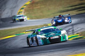 Connor De Phillippi races in an Audi at Petit Le Mans. Photo: Courtesy
