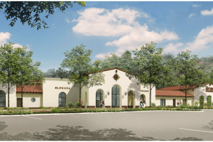 A rendering shows the plan for a new clubhouse at the Lifetime Fitness center, which is planned for 111 Avenida Vista Montana, the old Rancho San Clemente Tennis Club. Photo: Courtesy of Lifetime Fitness