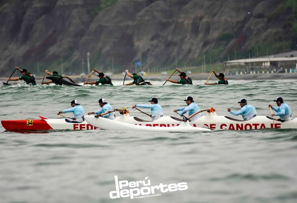 The Dana Outrigger Canoe Club team competed against the top paddlers from South America while in Peru. Photo: Courtesy