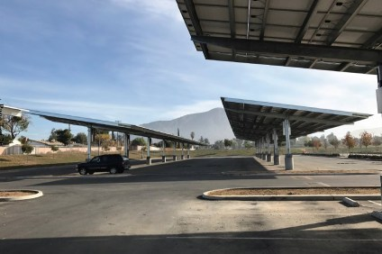 This rendering shows what the solar panels at Capistrano Unified School District schools would look like. Photo: Courtesy