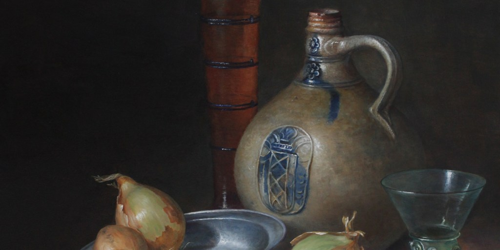 8-Still-life with jug, onion and beerglass