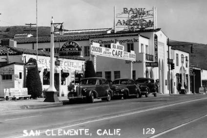 The Sea Shore Café in San Clemente is pictured here in circa 1945. The café was located on El Camino Real near Avenida Del Mar.  Photo: Thomas Pulley, courtesy of OC Public Libraries/Calisphere