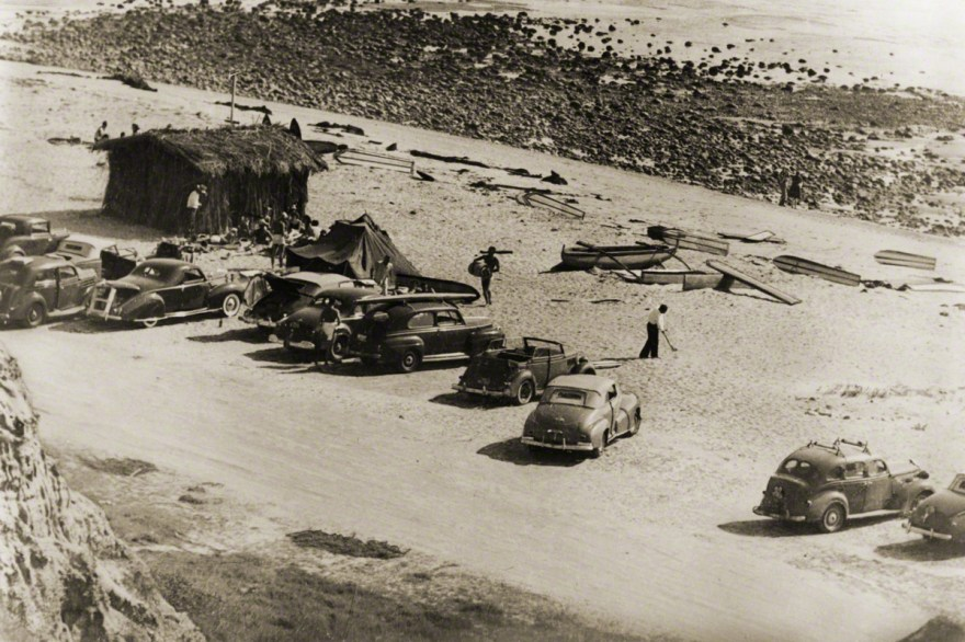 San Onofre, pictured here in the early 1930s. A lot's changed since then, but not everything. The stoke remains the same. Photo: Don James/Surfing Heritage and Cultural Center.