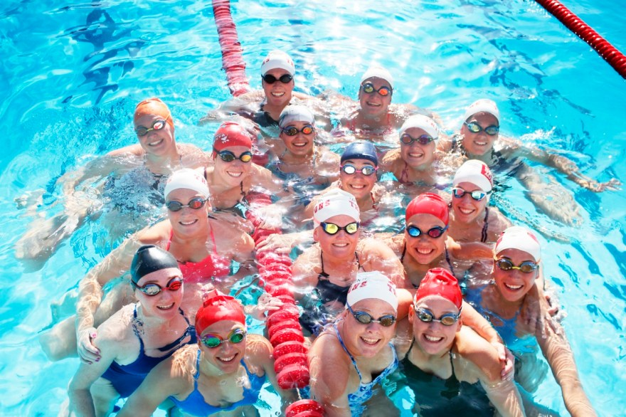 With a motivated and hard-working group, San Clemenete's girls swim team is looking to end the drought of league titles and build off of school-wide aquatic success. Photo: Zach Cavanagh