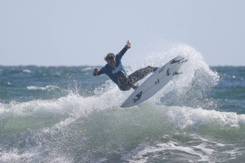 Ian Crane found his way into the runner-up spot, giving San Clemente a clean sweep of the podium. Photo: WSL