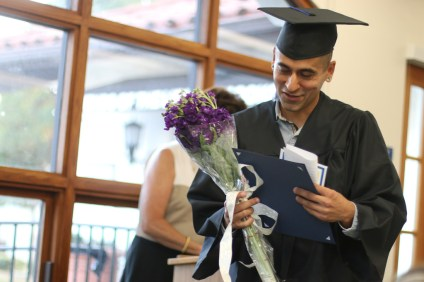 Students from the first graduating class of the Career Online High School program through the San Clemente Library received their high school diplomas on June 13. Photo: Eric Heinz
