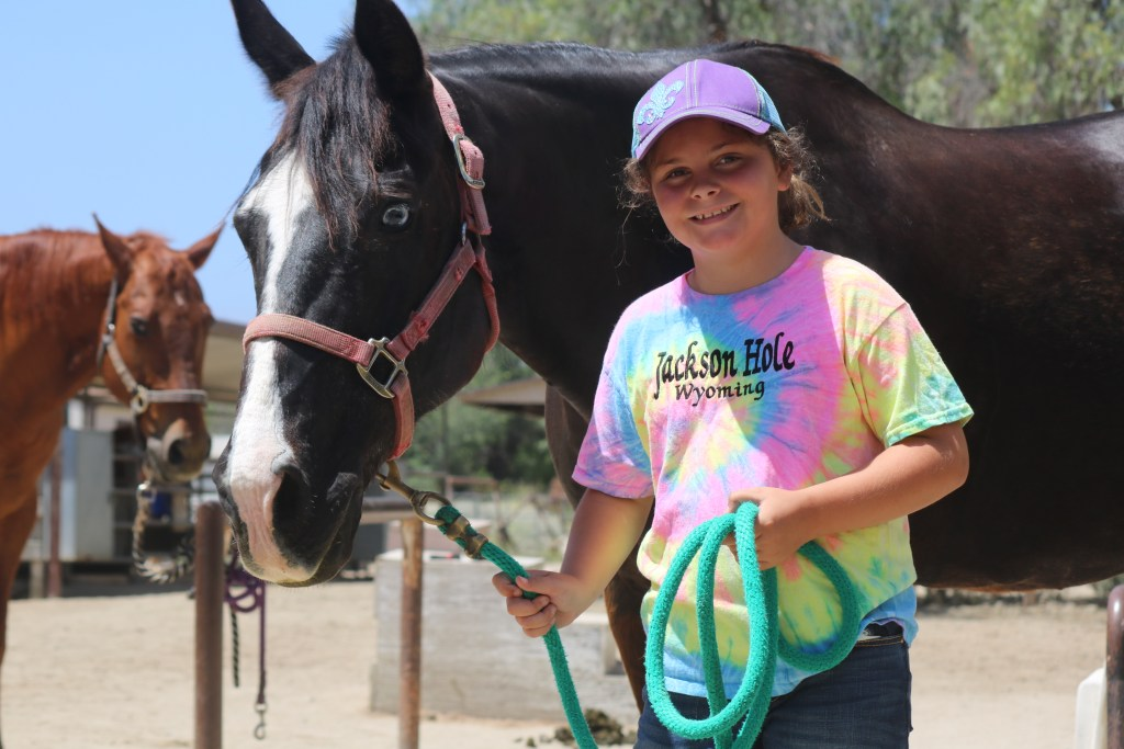 One of the cowgirls-in-training at the Ortega Equestrian Center. Photo: Daniel Ritz