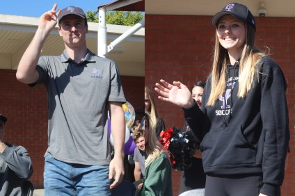 Chris Kane and Shae Waters are the 2017-18 San Clemente High School Athletes of the Year. Photo: Zach Cavanagh