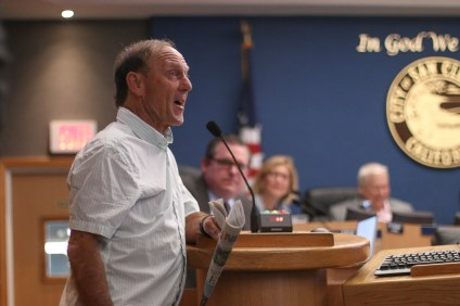 Fred Swegles wrote for the 'Sun Post News' for 46 years in San Clemente before being laid off. He was recognized for his work at the June 19 City Council meeting. Photo: Eric Heinz