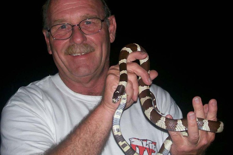 Steve Bledsoe, an amateur herpetologist, will give a lecture on dangerous snakes in Orange County on July 18 to kick off the San Onofre State Parks Summer Lecture Series. Photo: Courtesy of Steve Bledsoe
