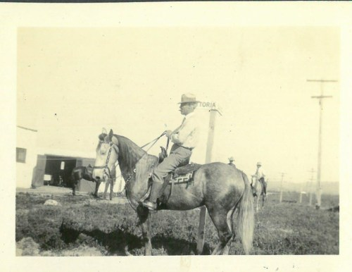 'Grandpa Hanson 1925,' pictured here, would have to be San Clemente founder Ole Hanson on horseback in a Hanson photo album provided by the family. Photo: Courtesy of the Hanson family