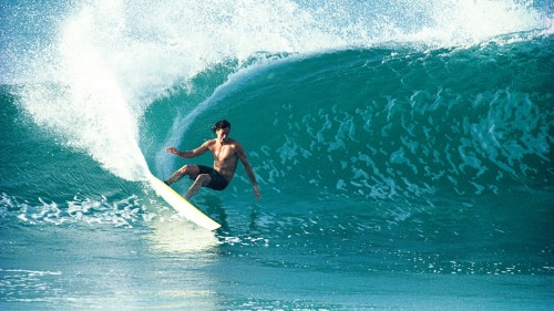 Tom Servais's photo of Tom Curren at Backdoor Pipeline, taken in 1991, inspired some contemporary surf legends and is regarded as one of the best surf photos of the era. Photo: Courtesy of Tom Servais