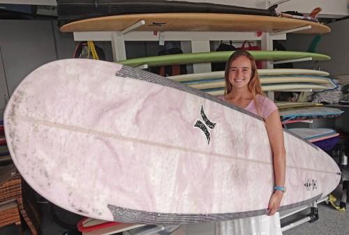 SCHS grad Rachael Tilly at home in Capistrano Beach. Photo: Fred Swegles