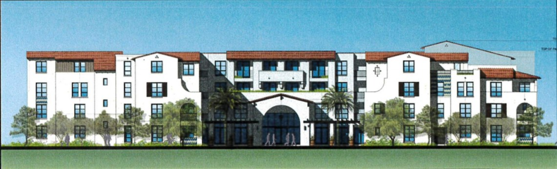 A four-story, 150-room living facility for people 55 and older is expected to be built on what is currently the Shorecliffs Golf Club driving range in the near future. Photo: Rendering provided by the city of San Clemente