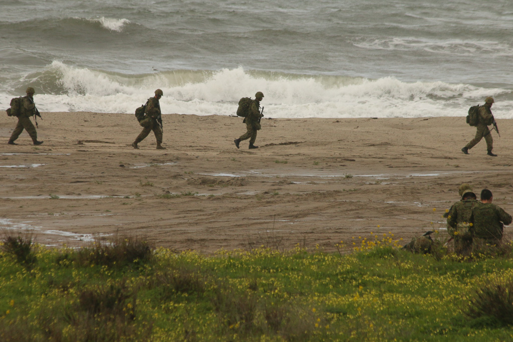 Soldiers participate in amphibious landing exercises during Iron Fist 2019 on Feb. 4. Photo: Eric Heinz