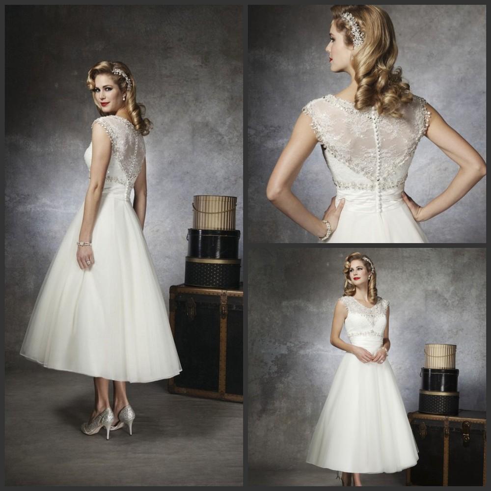 Fullsize Of Tea Length Wedding Dress