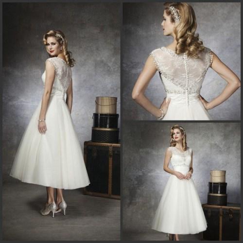 Medium Crop Of Tea Length Wedding Dress