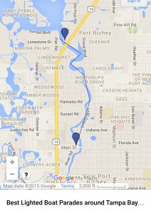 New Port Richie Holiday Boat Parade Route