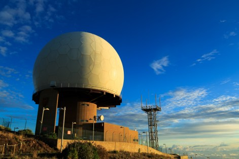 Radar station on Pico do Arieiro, Madeira.
