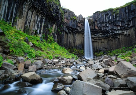 Svartifoss waterfall in Skaftafell National Park.