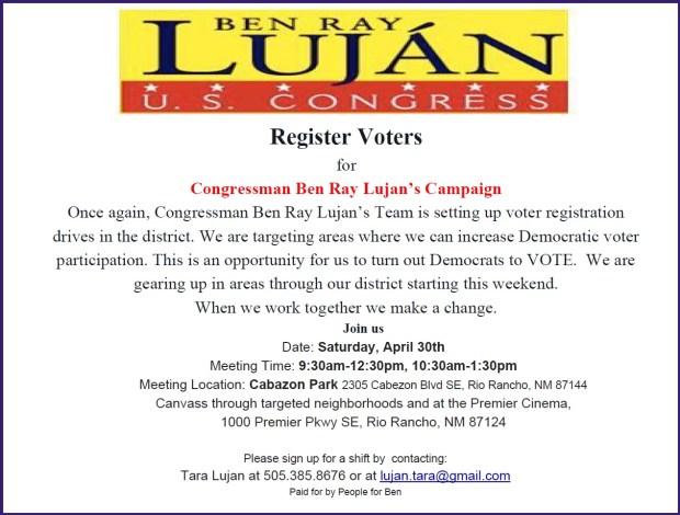 Lujan Registration