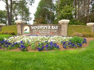 Sandpiper Bay Entrance