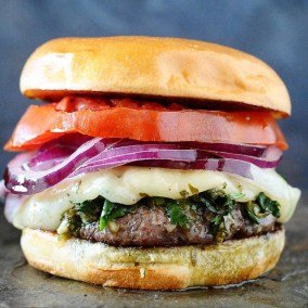 Argentina Burger with Chimmichurri and Planca Grilled Cheese from Girls Can Grill